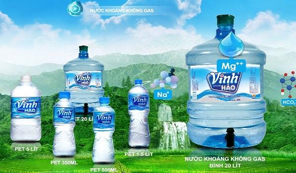 Nước khoáng Vĩnh Hảo chất lượng cao