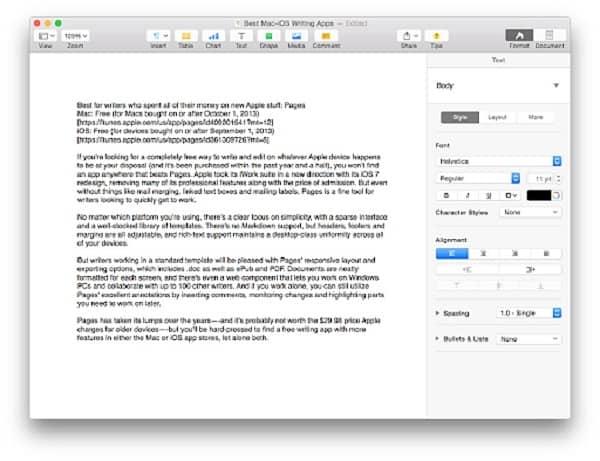 cách sử dụng word trên macbook