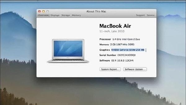 cách xem cấu hình macbook