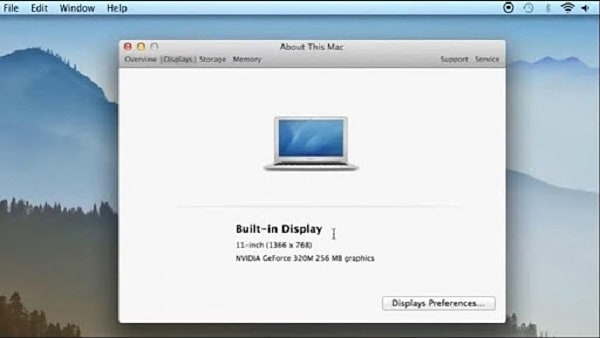 chỉnh độ phân giải màn hình macbook