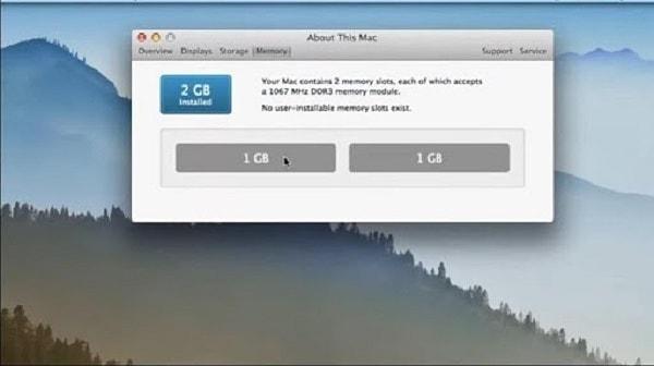 dung lượng ram macbook