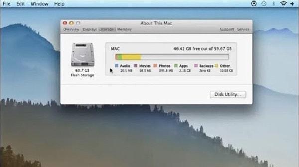 quản lý dung lượng macbook