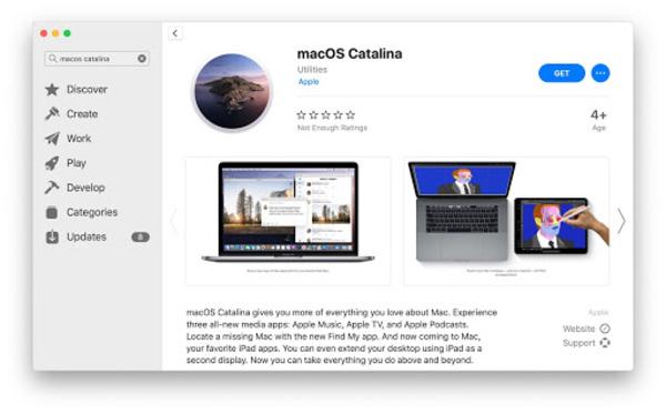 sử dụng app store trên macbook